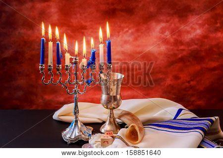 Lighting Hanukkah Candles  Celebration