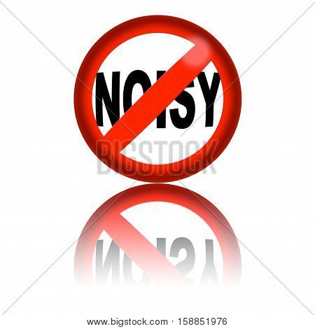 No Noisy Sign 3D Rendering