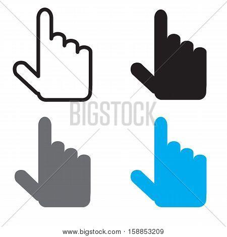 cursor icon flat design style. cursor sign.