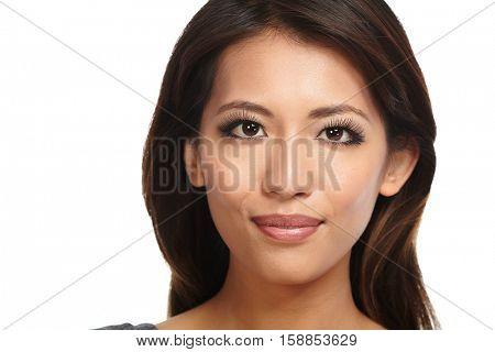 Beautiful asian girl close-up.