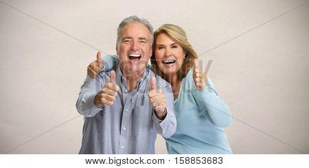 Happy mature couple.