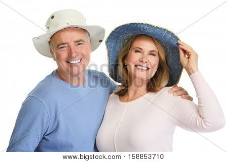 Senior couple in hat