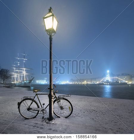 night view in Stockholm, Sweden