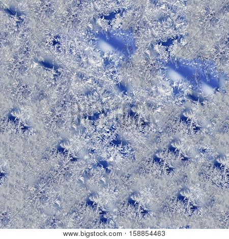 Seamless pattern for continuous replicate . Ice cover seamless background.