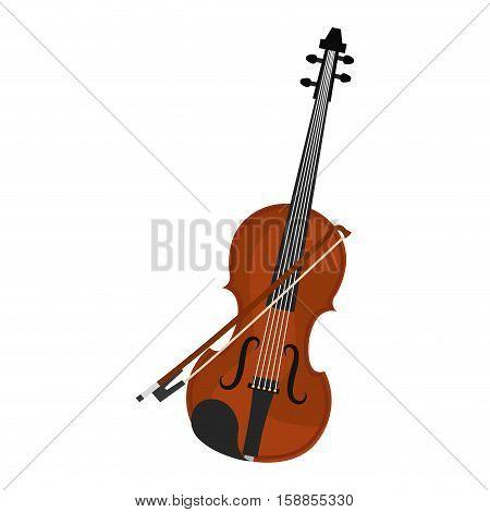 cello instrument musical icon vector illustration design