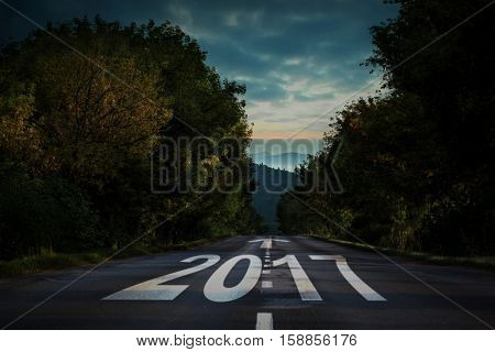 arrows against open road background