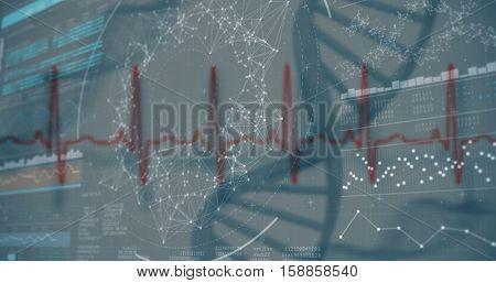 3D genes diagram on black background