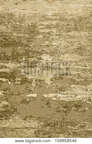 Brown wooden background with crackling effect. High resolution. Copy space. Top view