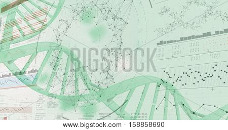3D genes diagram on white background