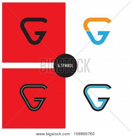 G- Company Symbol.G-letter abstract logo design.Vector illustration