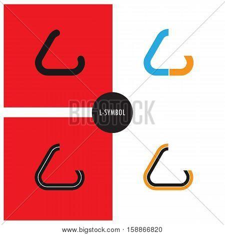 L- Company Symbol.L-letter abstract logo design.Vector illustration