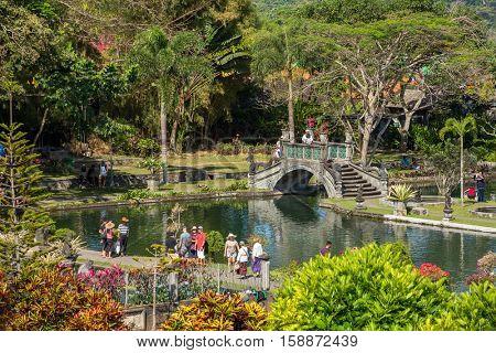 Bali, Indonesia - September 11, 2016: Water Palace of Tirta Gangga in East Bali, Indonesia
