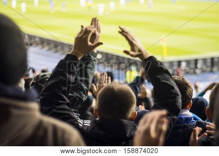 Fans Who Clap Their Hands At The Stadium