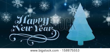 Elegant happy new year against background of colors
