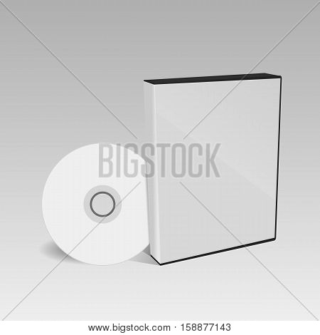 Cd Or Dvd Disc Cover Mockup Eps 10 Vector