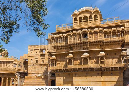 Famouse Dussehra Chowk inside Jaisalmer fort, India