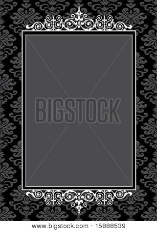 Vector decorative pattern and frame. Easy to scale and edit.