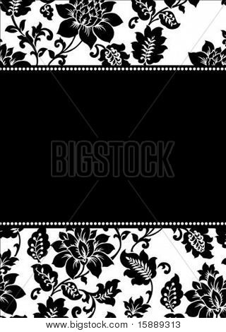 Vector floral frame. Easy to scale and edit. Pattern is included as seamless swatch poster