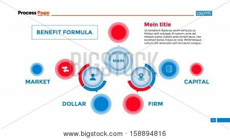 Flowchart slide template. Business data. Graph, diagram, design. Creative concept for infographic, templates, presentation, marketing. Can be used for topics like production, research, planning.