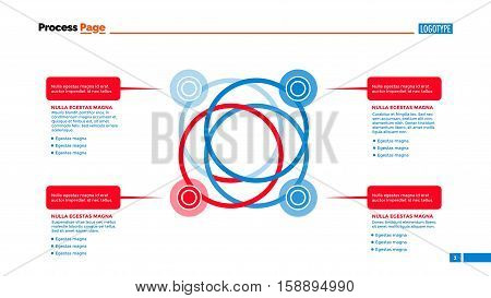 Process chart slide template. Business data. Graph, diagram, design. Creative concept for infographic, templates, presentation, report. Can be used for topics like marketing, finance, banking.