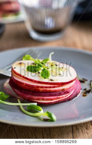 Apple and Beetroot salad with Balsamic dressing