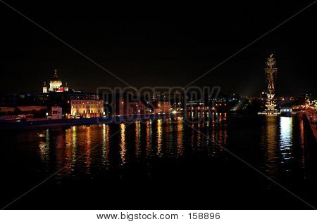 Night Moscow-river