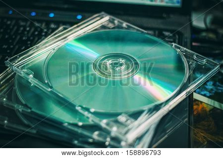 Cd disc for data storage , old times