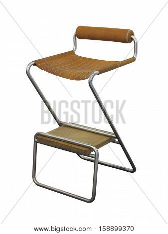 Brown Bar Stool Isolated On White