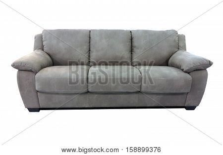 Grey Sofa Furniture Isolated On White