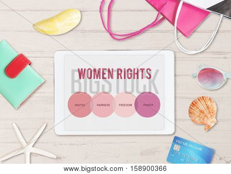 Women Rights Human Gender Equal Opportunity Concept