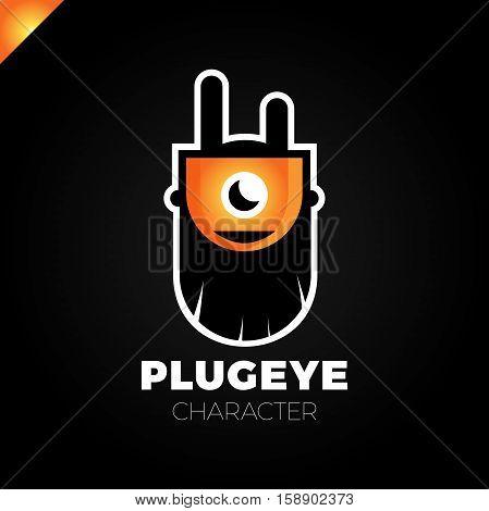 Cartoon Logo - Plug. Beard Cartoon Character