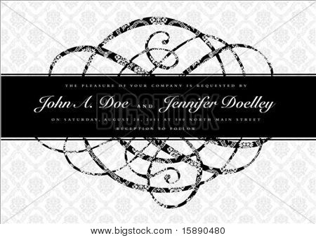 Vector ornate banner and pattern. Seamless pattern is included as a swatch. Easy to edit.
