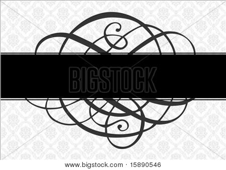 Vector frame, ornament, and pattern. Perfect as an invitation or announcement.  Pattern is included as seamless swatch. All pieces are separate.