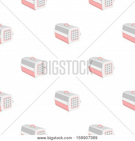Cat house icon in pattern style isolated on white background. Cat symbol vector illustration.