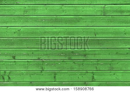 Green Rural Wooden Wall, Flat Texture
