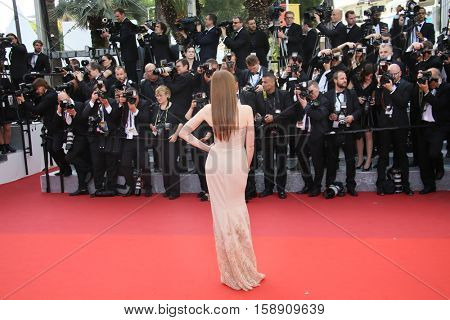 Cannes, France - 11 MAY 2016 - Maud Wyler attends the screening of 'Cafe Society' at the opening gala of the annual 69th Cannes Film Festival at Palais des Festivals