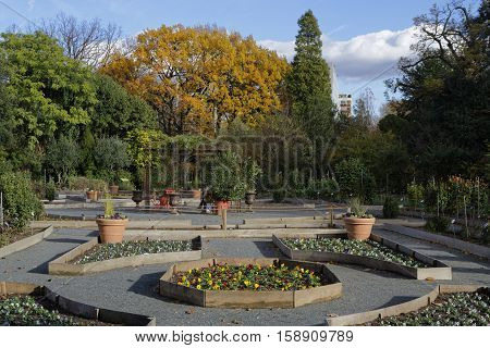 Lyon, France, November 19, 2016 : Fall In Parc De La Tete D'or. The Park Is One Of The Greatest Urba