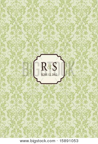 Vector ornate wedding frame. Easy to edit. Perfect for invitations or announcements.