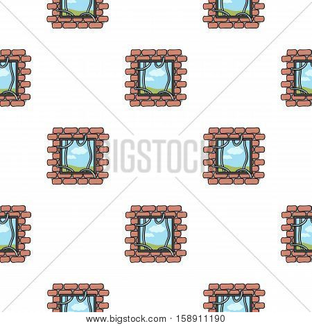 Prison escape icon in pattern style isolated on white background. Crime symbol vector illustration.