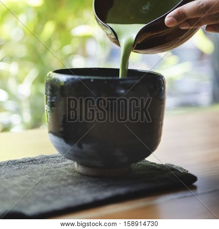 Japanese Matcha Tranditional Culture Concept