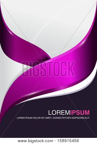 Abstract purple and pink elegant backdrop for a corporate brochure or flyer