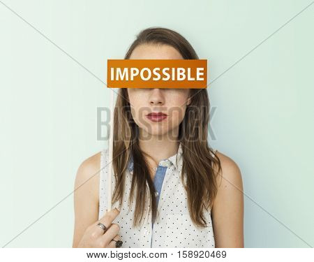Impossible No Way Pessimism Word Concept
