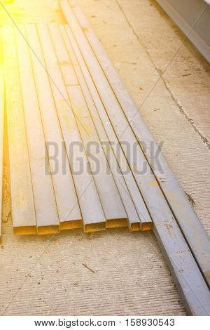 Steel box girder . Used for construction.