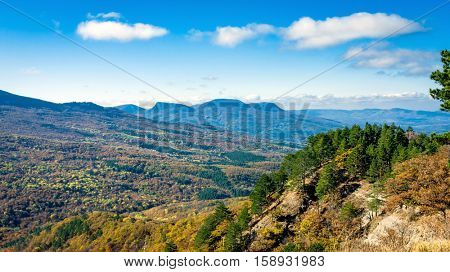 Nice autumn landscape in mountains