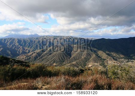 View from Juno Peak, Angeles National Forest, California
