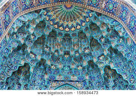 Saint Petersburg Mosque majolica mosaic of the portal Russia