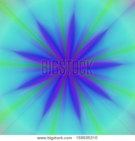 Blue and cyan green abstract esoteric symbol image