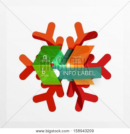 Vector sale Christmas banner template. For banners, business backgrounds and presentations