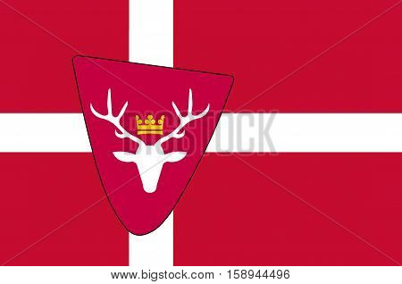 Flag of Hoersholm is a municipality in Region Hovedstaden of Denmark