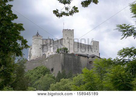 Hohensalzburg Fortress sits atop the Festungsberg, Salzburg